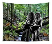 Allen And Steve Jam With Friends On Mt. Spokane Tapestry