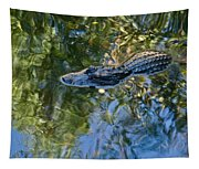 Alligator Stalking Tapestry