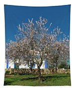 Almond Tree Cottage Tapestry