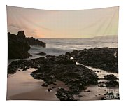 Aloha Paako Akahi Sunset Makena Maui Hawaii  Tapestry