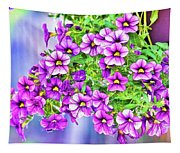 Aloha Purple Sky Calibrachoa Abstract II Tapestry