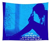 Alone In Blue Tapestry