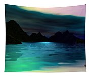 Alone On The Beach Tapestry