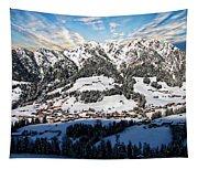 Alpbach Winter Landscape Tapestry