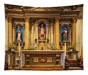 Alter Of The Mission San Buenaventura Tapestry