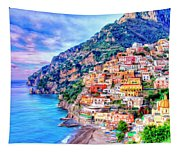 Amalfi Coast At Positano Tapestry