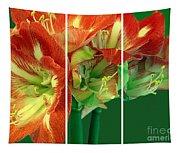 Amaryllis Triptych Tapestry