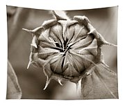 Amazing Sunflower Bud Tapestry