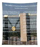 American Battle Monuments Commission Tapestry by Travel Pics