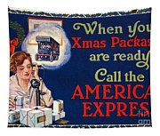 American Express Shipping Tapestry