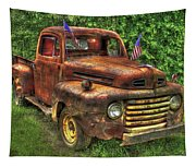 American Ford 1950 F-1 Ford Pickup Truck Art Tapestry