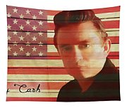 American Icon Johnny Cash Tapestry
