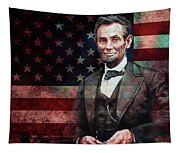 American President Abraham Lincoln 01 Tapestry