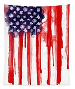 American Spatter Flag Tapestry