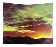 American Sunset As Vintage Album Art Tapestry