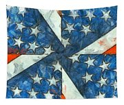 Americana Abstract Tapestry
