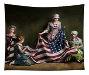 Americana - Flag - Birth Of The American Flag 1915 Tapestry