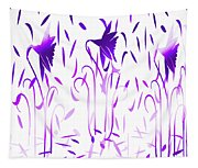 Amethyst Dancing Flowers Tapestry