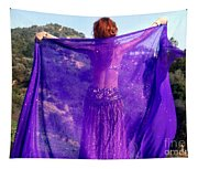 Ameynra Belly Dance. Purple Veil Tapestry