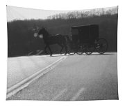 Amish Horse And Buggy In Winter Tapestry