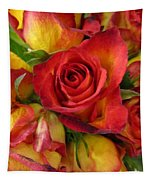 Among The Rose Leaves Tapestry