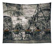 Amsterdam Bicycle Nostalgia Tapestry