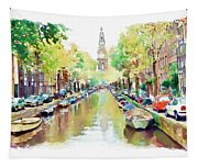 Amsterdam Canal 2 Tapestry
