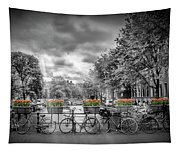 Amsterdam Gentlemens Canal Typical Cityscape Tapestry