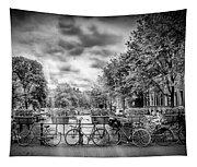 Amsterdam In Monochrome  Tapestry
