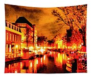 Amsterdam Night Life L A S Tapestry