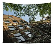 Amsterdam Spring - Fancy Brickwork Glow - Left Horizontal Tapestry