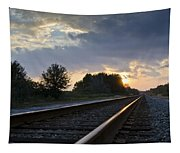 Amtrak Railroad System Tapestry