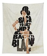 Amy Winehouse Typography Art Tapestry