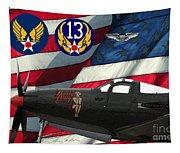 An American P-63 Pof Tapestry