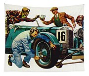 An Aston Martin Racing Car, Vintage 1932 Tapestry