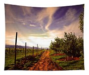 An Evening By The Orchard Tapestry