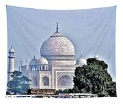 An Extraordinary View - The Taj Mahal Tapestry