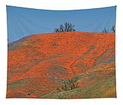 An Ocean Of Orange On The Mountain Top Tapestry