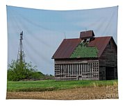 An Old Illinois Barn Tapestry