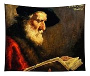An Old Man Reading P A Tapestry