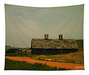 An Old Montana Barn Tapestry