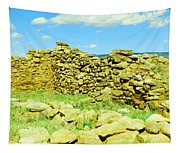An Old Wall At The Pecos Ruins Tapestry