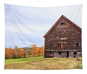 An Old Wooden Barn In Vermont. Tapestry