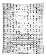 Ancient And Mystical Alphabets Tapestry