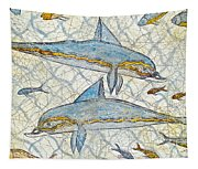Ancient Greek Dolphins Tapestry