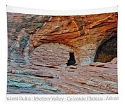 Ancient Ruins Mystery Valley Colorado Plateau Arizona 05 Text Tapestry