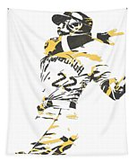 Andrew Mccutchen Pittsburgh Pirates Pixel Art 1 Tapestry