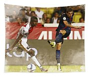 Angel Di Maria Shoot The Ball Tapestry
