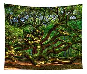 Angel Oak Morning Shadows Charleston South Carolina Tapestry