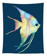 Angelfish I - Solid Background Tapestry